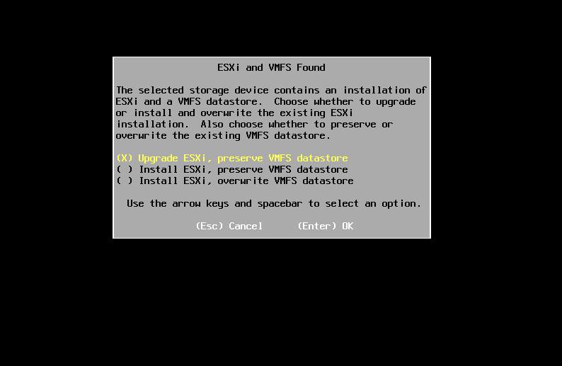 upgrade vsphere esxi 5.5 6.5 6.7 vcenter install