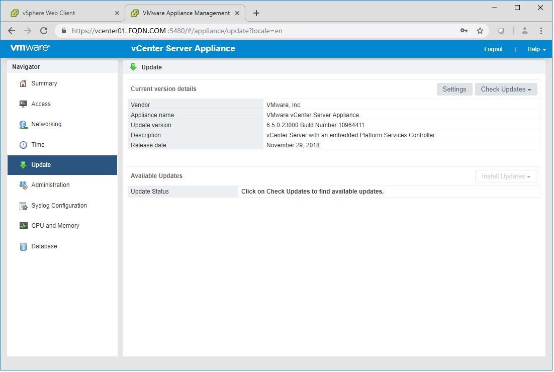 VMware vSphere ESXi and vCenter Upgrade 5 5 to 6 0 or 6 5 or 6 7