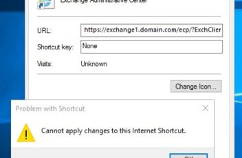 cannot apply changes to this internet shortcut 2016 2019