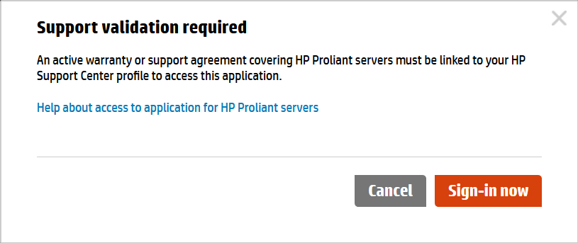HPE warranty or service agreement needed to download service pack